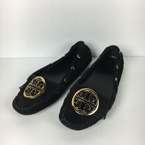Tory Burch Alexandra Suede Driving Mocs Loafers